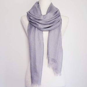 NORDSTROM Cashmere & Silk Wrap - SILVER/GREY
